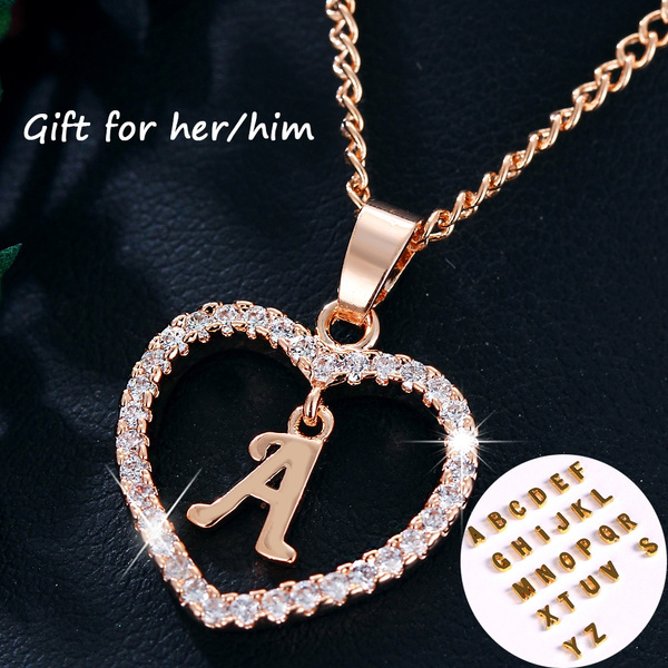 goldplated, lettersnecklace, Fashion, Love