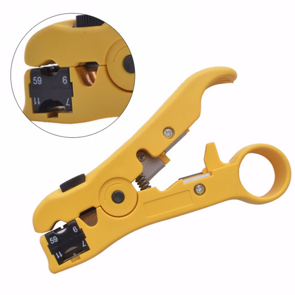 Multifunctional RG59 RG6 RG7 RG11 Coaxial Cable Stripper Cutter Stripping Tools