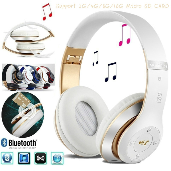 S6 Bluetooth Headphones Wireless Bluetooth 4 0 Heavy Bass Stereo Folding Auriculares With Mic Support Tf Sd Card The Best Gift Mayhy Wish