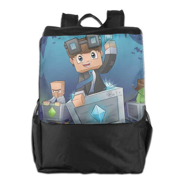 3fbfa57a68 DANTDM The Diamond Mens And Womens Lightweight Backpack Gym Bag For Sport  Youtubers Backpack