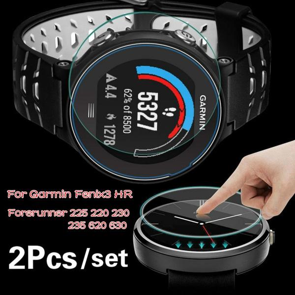 2Pcs Tempered Glass Screen Protector for Garmin Fenix3 HR/ Forerunner 225  220 230 235 620 630