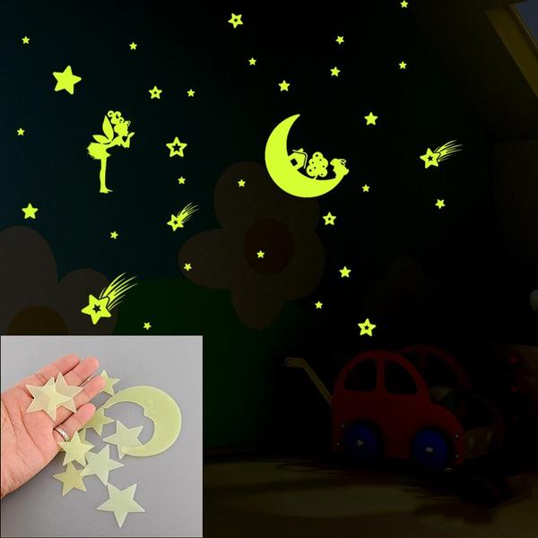 Art Fluorescent Decals Kids Rooms Decor Luminous Wall Stickers Home Decoration