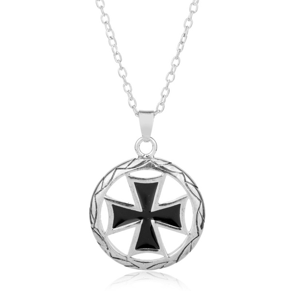 Wish mens fashion hollow out knights templar cross temple pendant wish mens fashion hollow out knights templar cross temple pendant vintage maltese iron cross necklace cool party jewelry gift for men aloadofball Images