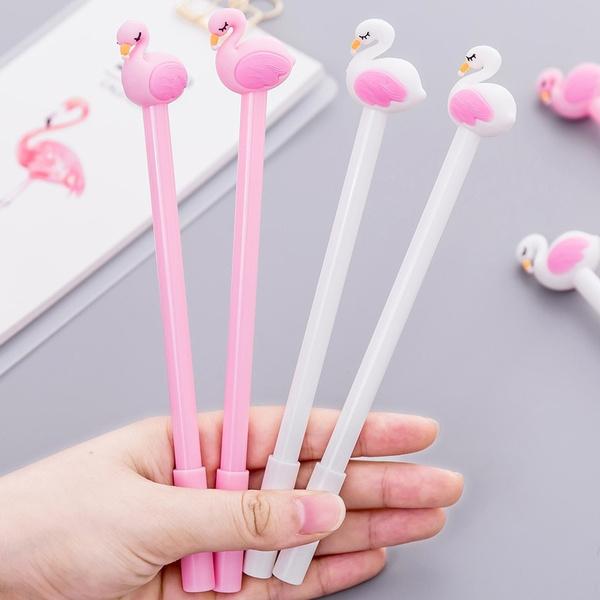 ballpoint pen, pink, School, flamingo