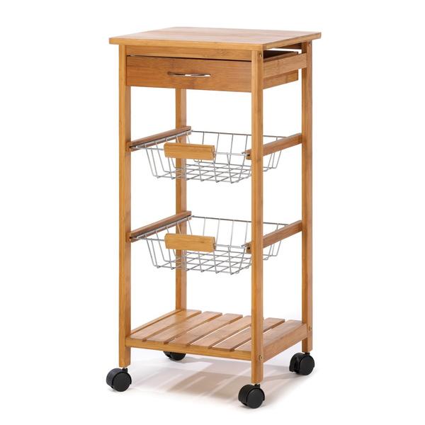 dbb7349d5866 Kitchen Storage Cart, Rolling Kitchen Carts, Wooden Portable Kitchen Island  Cart