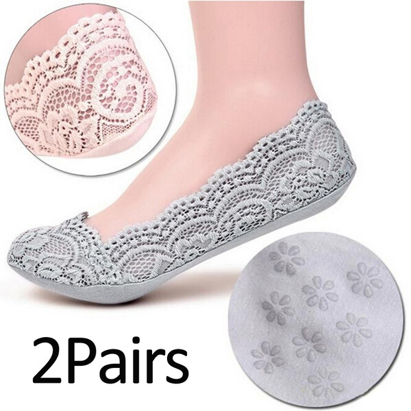 non-slip, womensock, Lace, Socks