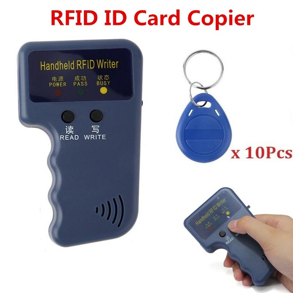 Handheld 125KHz RFID Copier/Writer/Readers/Duplicator With 10PCS ID Tags