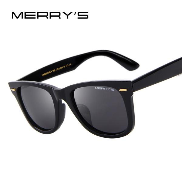 c104e766dcf MERRY'S DESIGN Men/Women Classic Retro Rivet Polarized Sunglasses 100% UV  Protection S'8140