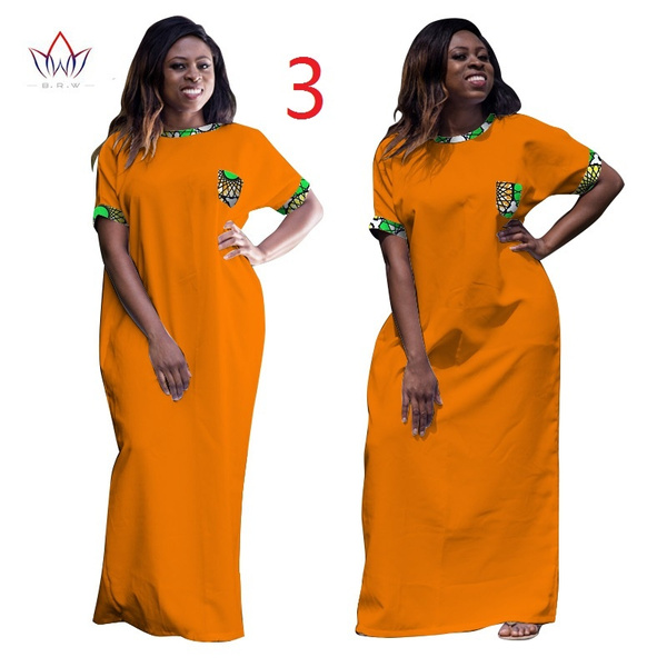 African Dresses for Women Dashiki Ropa Africa Traditional Clothing African  Robe Long African Print Plus Size Dresses WY998