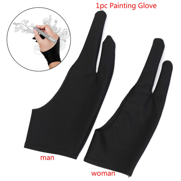 Two Finger Anti-fouling Glove Drawing Pen Graphic Tablet Pad For Artist