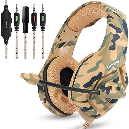 PS4 Gaming Headset with Mic for PC Mac Laptop New Xbox One Nintendo DS PSP  Surround Stereo Sound Noise Reduction One Key Mute Gaming Volume Control