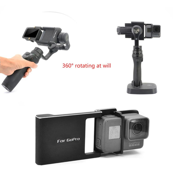 Adapter for GoPro Hero 6/5/4/3+ Xiaoyi 4K+ Switch Mount Plate for DJI osmo  Mobile Zhiyun Smooth Q C 2 Smartphone Gimbal