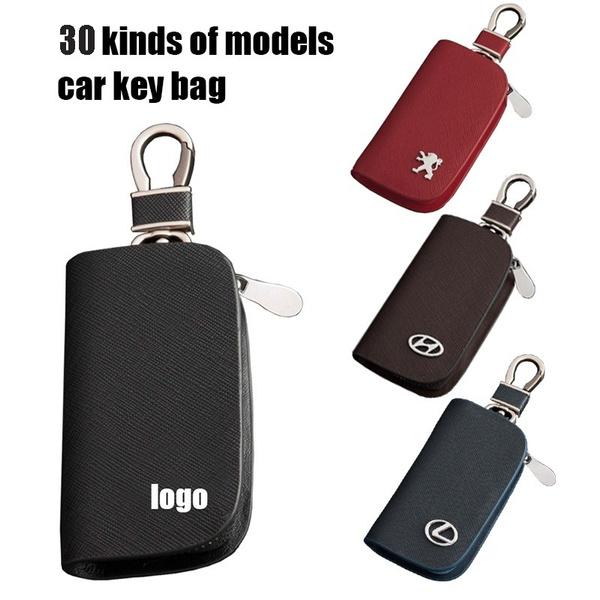 Mens Women Leather Key Wallet Case Holder Purse Pouch Bag Organiser Keyrings New