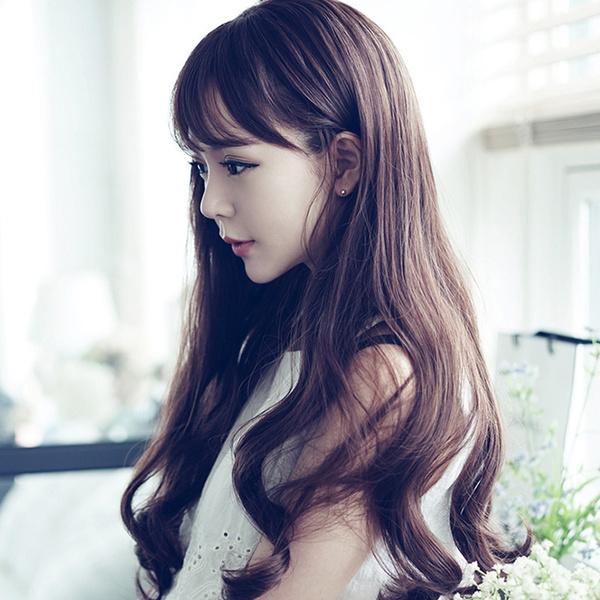 Fashion Wig Long Wavy Hair And Large Waves Of Korean Air Bang Fluffy Fashion Synthetic Wig Covers