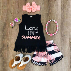 kids, Baby Girl, Shorts, Tank