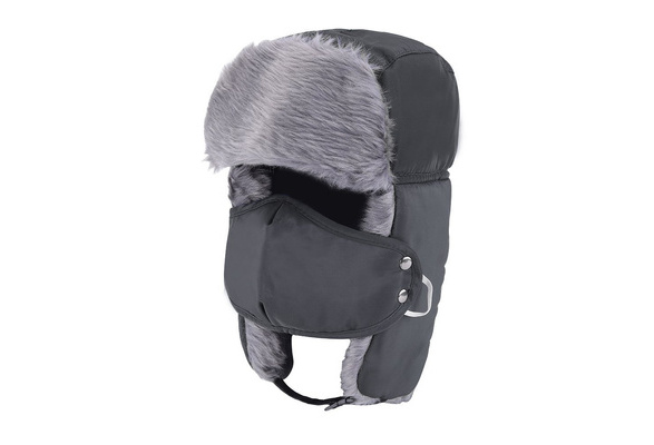 72b1268cf Unisex Winter Trooper Trapper Hat Hunting Hat Ear Flap Chin Strap and  Windproof Mask Nylon Russian Style Winter Ear Flap Hat for Men Women