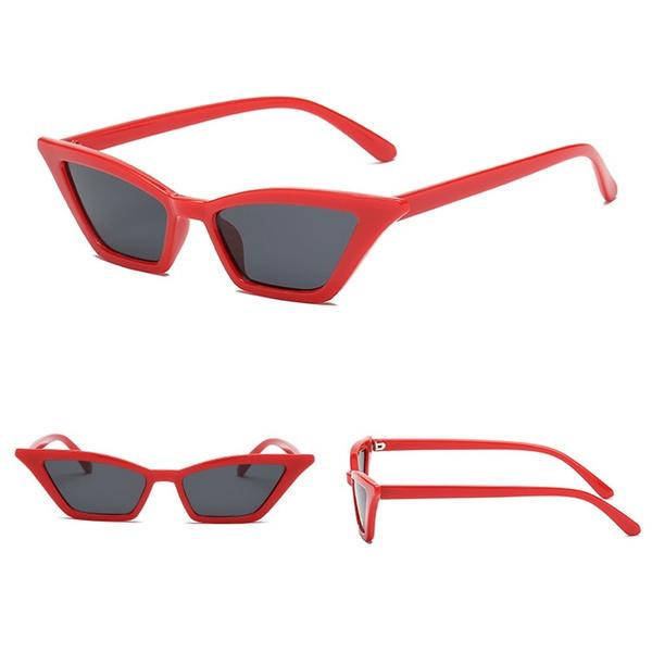 Women Luxury Brand Designer Cat Eye Sunglasses Retro Red Small Eyeglass  Frame Black UV Protection Eyewear oculos