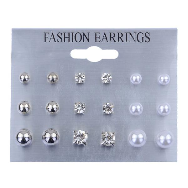 pearls, Pearl Earrings, Stud Earring, Simple