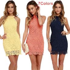 clubparty, Lace Dress, halter dress, Cocktail