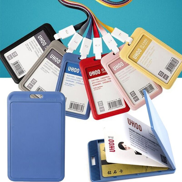 ID Business Case Lanyard Work Card Holders ID Card Pouch Name Card Card Sleeve