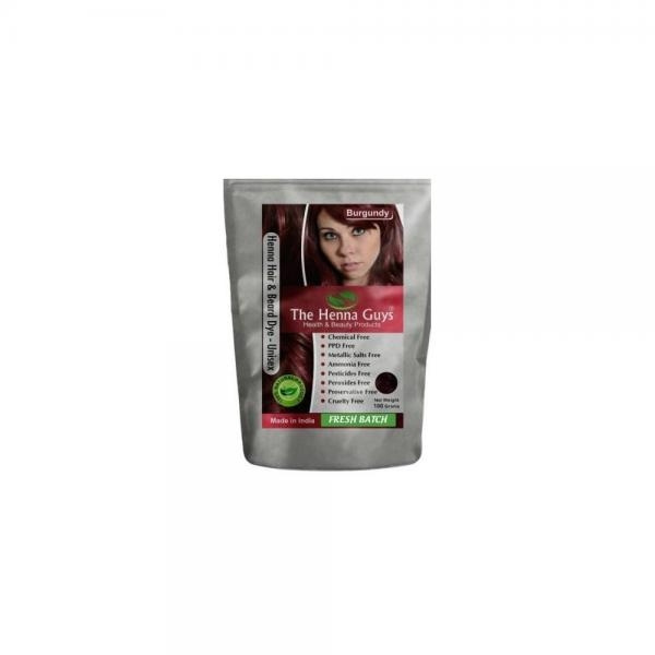 Wish 2 Packs Of Burgundy Red Henna Hair Beard Color Dye 100