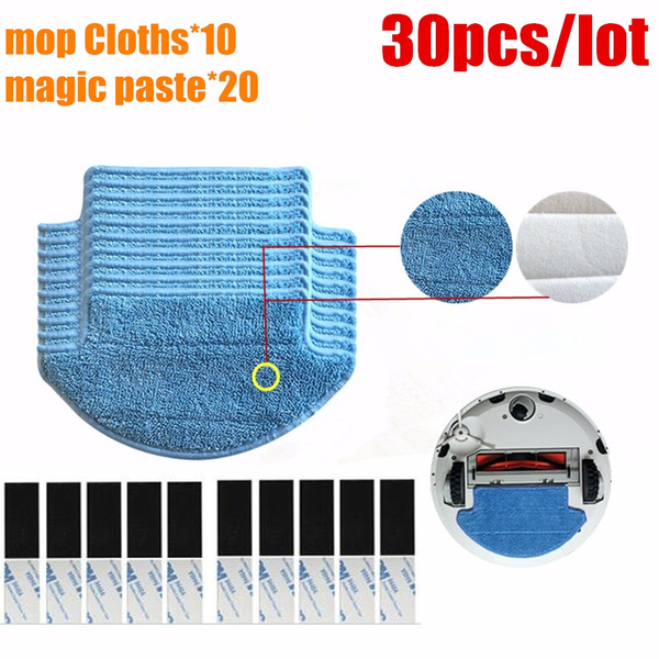 30pcs/lot Original thickness Xiaomi Mi Robot Vacuum Cleaner mop Cloths  Parts kit ( mop Cloths*10+magic paste*20) aspirador