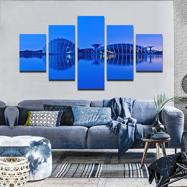 Wish Unframed 5 Pieces Waterproof Ink Republic Of Singapore Oil On