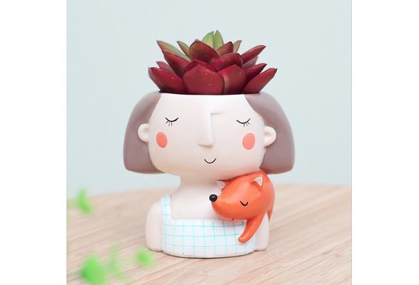 Girl Flower Planter Flowerpot Creat Design Home Garden Bonsai Pots