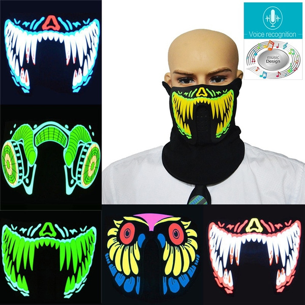 Led Voice-activated Music Mask Clothing Terror Masks Cold Light Helmet Fire Festival Party Glowing Dance Steady On Driver Back To Search Resultsconsumer Electronics