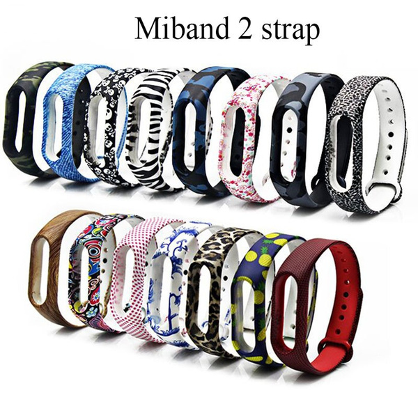 Replacement Wrist Bands Bracelet Silicon Necklace Case For Xiaomi Mi Band 2