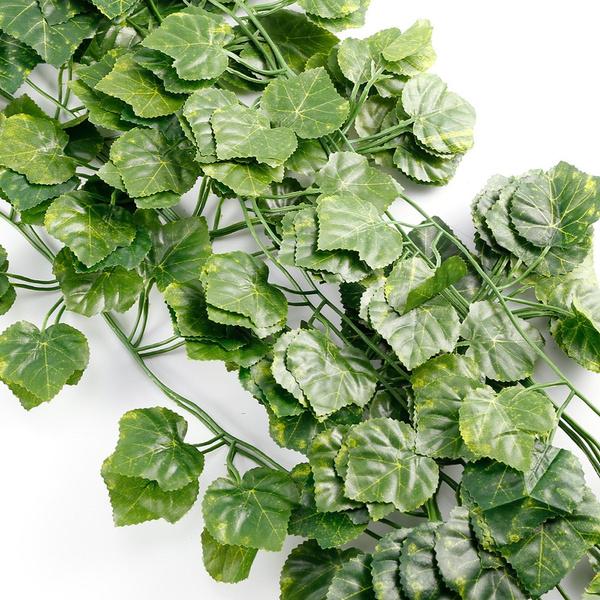 12 St Grün Künstliche Efeu-Blatt Blattgirlande Girlande Kunstpflanzen Deko