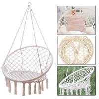 Bcp Indoor Outdoor Handwoven Cotton Macrame Hammock Hanging Chair Swing Wish