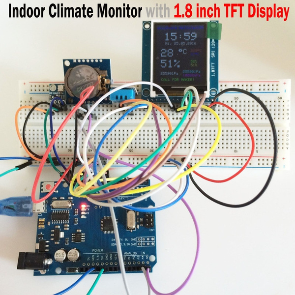 S er Kit Pack Set For Arduino R3 RTC 1 8inch TFT 1602 LCD RFID BMP180