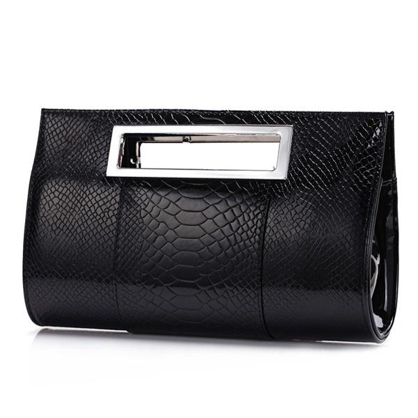 Women Evening Bag Lady Tote Alligator Leather Clutch Party Bolsos De Mano Fiesta Shoulder Bag