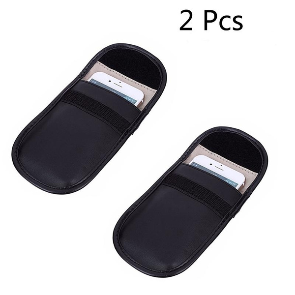 Black Healthy Cell Phone Privacy Protection Security WIFI//GSM//LTE//NFC//RF Blocke Antitheft Lock Devices Car Key Signal Blocker Case Keyless Entry Fob Guard Signal Blocking Pouch Bag