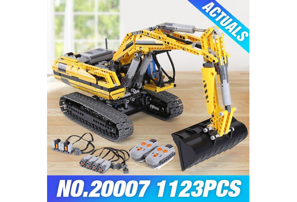 New LEPIN 20007 Technic Series 1123pcs Excavator Model Building Blocks Bricks Compatible Toy Christmas Gift 8043 Educational Car 100% High Quality