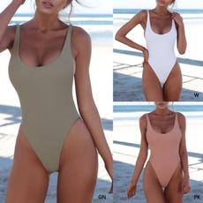 summerwear, Fashion, one piece bikini, uneckbikini