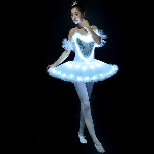 Womens Ballet Dress Professional Princess Ballet Skirt Swan Lake Tutu  Costume