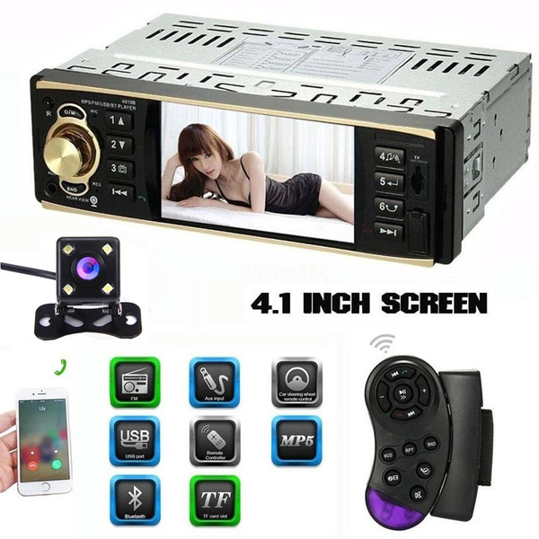 4 1 inch hd 1080p car radio audio mp3 mp5 player single din carcaraudioplayer, carstereo, remote controls, carvideoplayer
