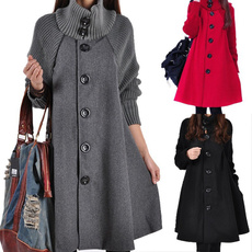 woolen coat, Plus Size, Winter, Long Coat