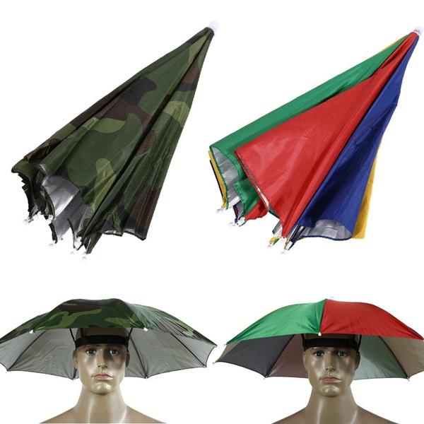 3c3529b4 Colorful/Camo Umbrella Hat Cap Sun Shade Camping Fishing Hiking ...