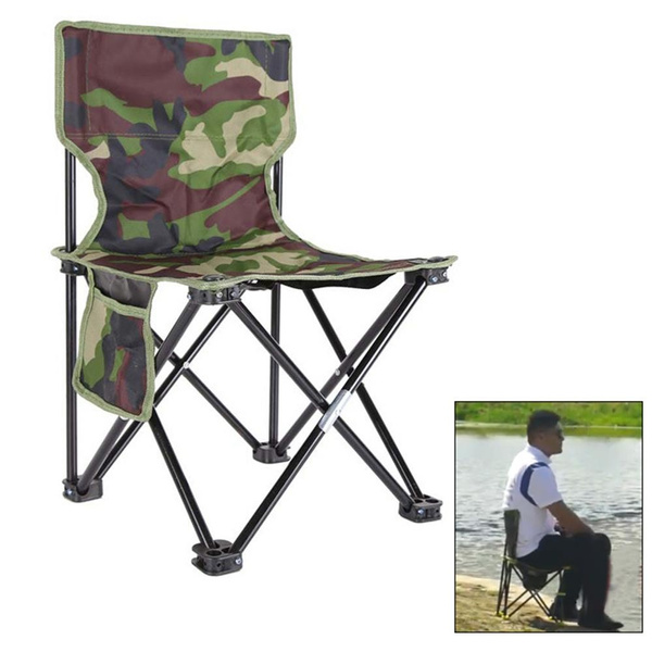 Incredible Outdoor Portable Fishing Chair Art Painting Bbq Camouflage Foldable Stool Inzonedesignstudio Interior Chair Design Inzonedesignstudiocom