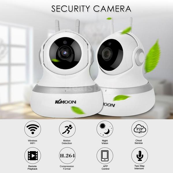 KKmoon HD 720P 1 0 Megapixels IP Cloud Camera 4pcs Array IR Lamps CCTV  Surveillance Security Network PTZ Camera Support Cloud Storage P2P for