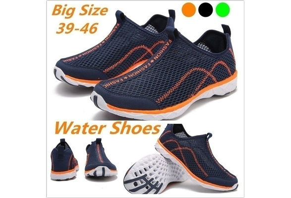 2018 Hot Sale Men Fashion Mesh Quick-dry High Quality Rubber Sole Slip on Water Shoes