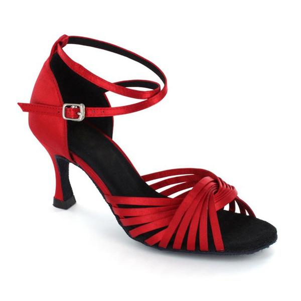 Wish Ballroom Dance Shoes Women 3 Inch Flared Heel Latin Dress Salsa Wedding