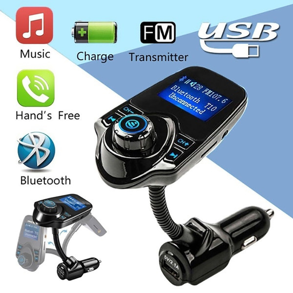 Bluetooth FM Transmitter USB Car Charger Wireless Car Kit with 3 5mm Audio  Port, TF Card Slot, 1 44 Inches Screen Supports Display Car Battery