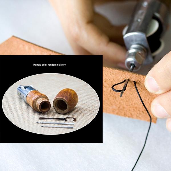 Sewing Lock Stitch Awl Kit w/thread Sewing Awl Hand Kit leathercraft tool  needle