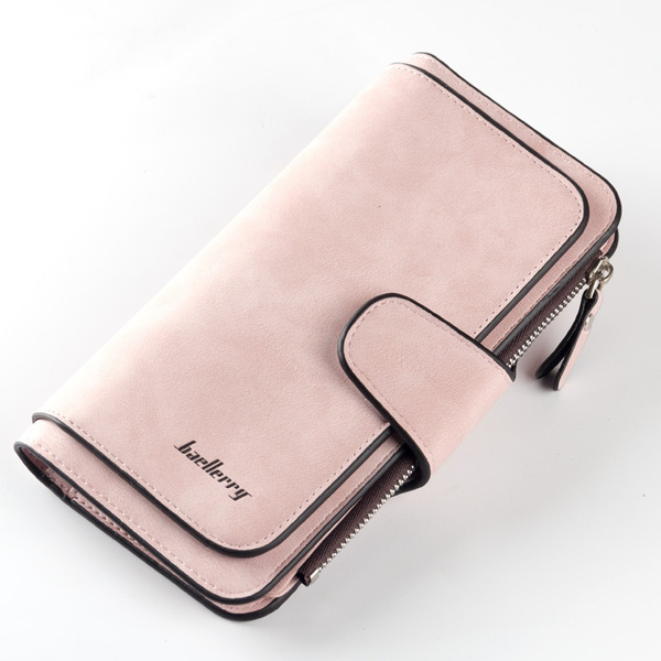 Womens Ladies Solid Color Clutch Purses Leather Long Handbag Bag Card Wallet