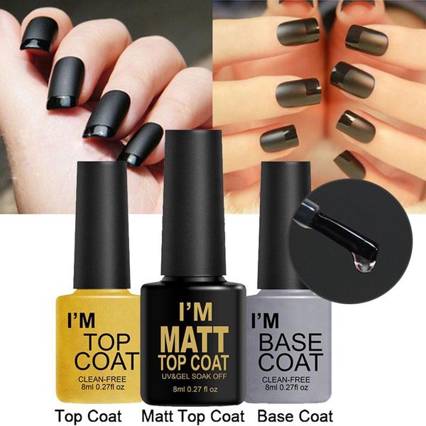 8ml Nail Gel I\'M Base Coat/Top Coat/Matt Top Coat for UV Soak Off ...
