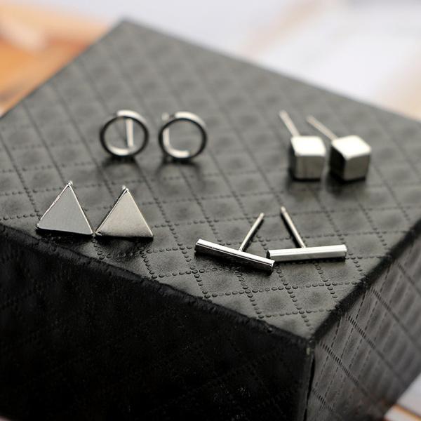 silver earrings for women, Gifts, Earring, Simple